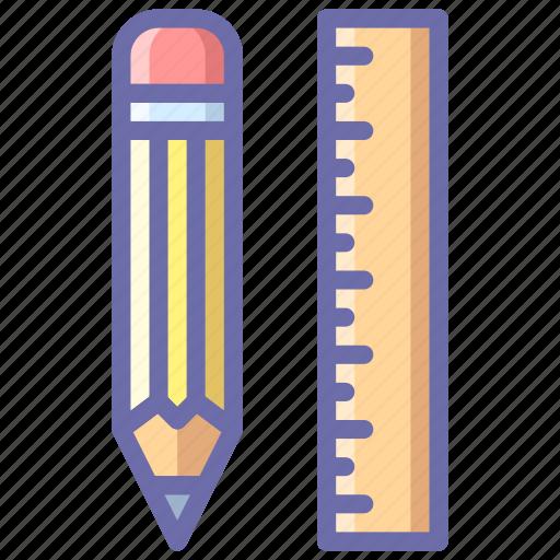 app, pencil, rule icon