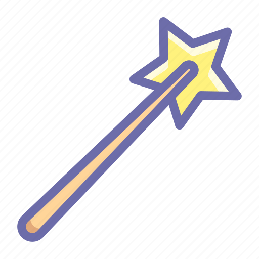 magic, wand, wizard icon