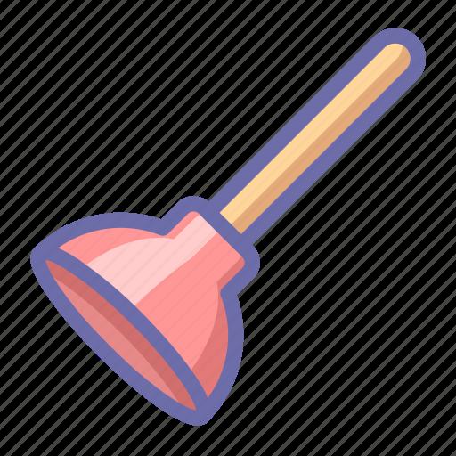 plunger, toilet, tool icon