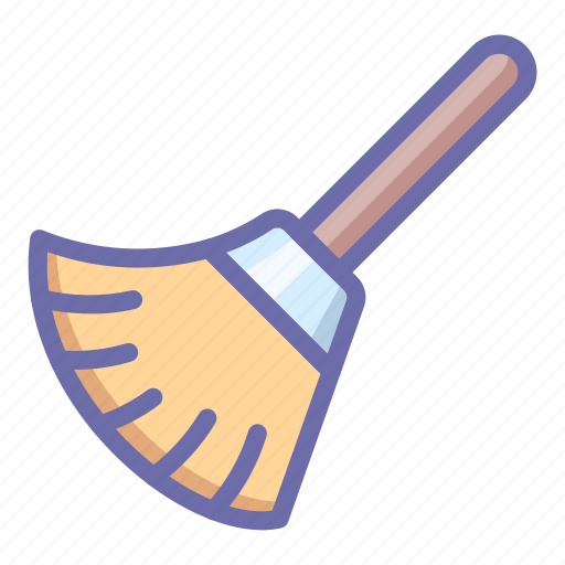 broom, clear, tool icon