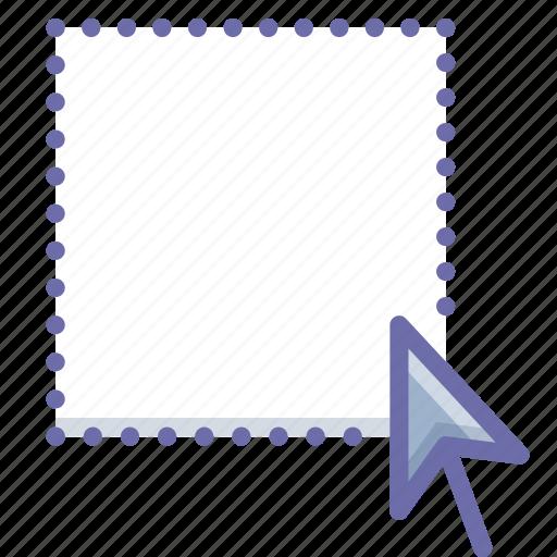 area, cursor, select icon