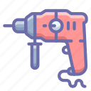 drill, perforator, tool icon