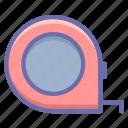 measuring, tool, tape icon