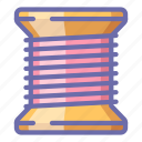 bobbin, coil, thread icon