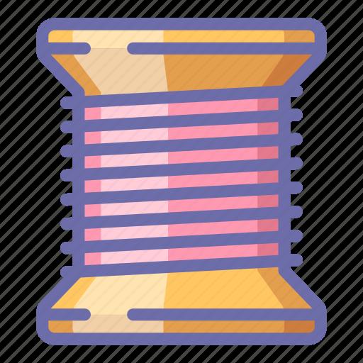 bobbin, coil, thread icon