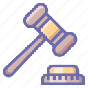 auction, hammer, judge icon