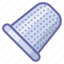 sewing, thimble icon