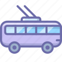 bus, transport, trolley, trolley bus icon