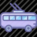 bus, transport, trolley, trolley bus icon