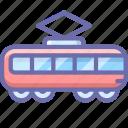 railroad, tramway, transport, vehicle icon