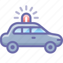 car, emergency, flashing icon