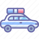 car, police, transport icon