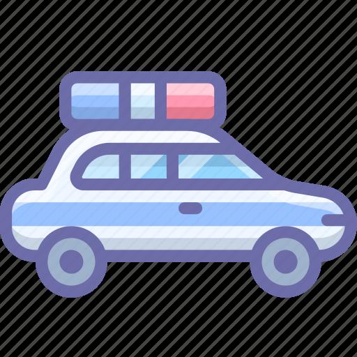 car, police, transport icon