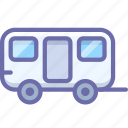 caravan, trailer, travel, wagon icon