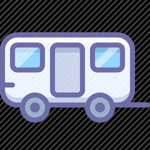 caravan, trailer, travel, wagon icon