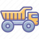haul, industrial, truck icon