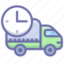 delivery, logistics, rush, truck icon
