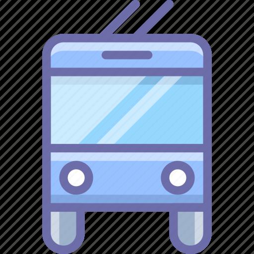 bus, trolley, trolley bus icon