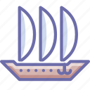 argosy, sailfish, ship icon