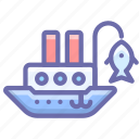 fisherman, marine, ship, vessel icon