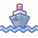ship, steamship, vessel icon
