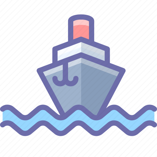 ship, steamship, vessel icon