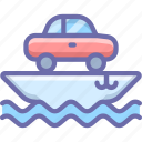 car, cargo, ship, transport, vessel icon