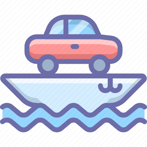 Car, cargo, ship, transport, vessel icon - Download on Iconfinder