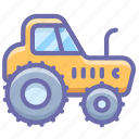 agrimotor, construction, equipment, industrial, tractor, wheels icon