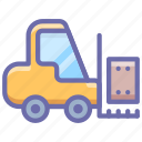 construction, equipment, fork, forklift, industrial, lift, logistic icon