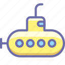 bathyscaph, submarine icon