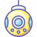 bathyscaph, bathyscaphe, submarine icon