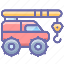 construction, crane, industrial, vehicle icon