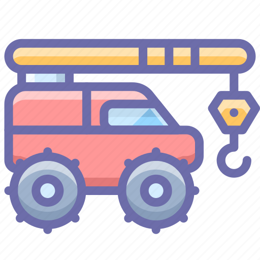 Construction, crane, industrial, vehicle icon - Download on Iconfinder