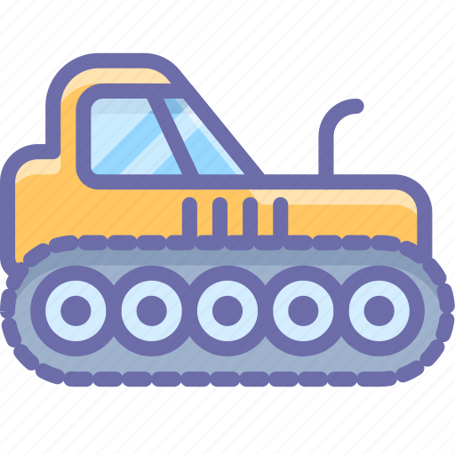 agrimotor, caterpillar, construction, industrial, tractor icon