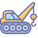 caterpillar, construction, crane, industrial icon