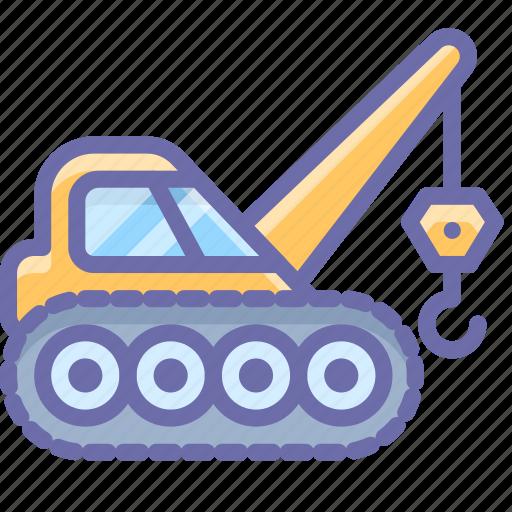 caterpillar, construction, crane, industrial icon