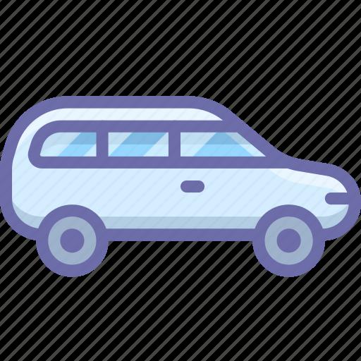 car, estate, family icon