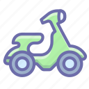 motorbike, scooter, transport icon
