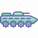 amphibious, apc, ifv, infantry, military, tank icon