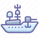 aerocarrier, aircraft, destroyer, military, warship icon