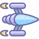 space, spaceship icon