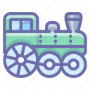 locomotive, railway, steam, train icon