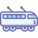 electric, suburban, train icon