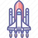 launch, rocket, shuttle, spaceship icon