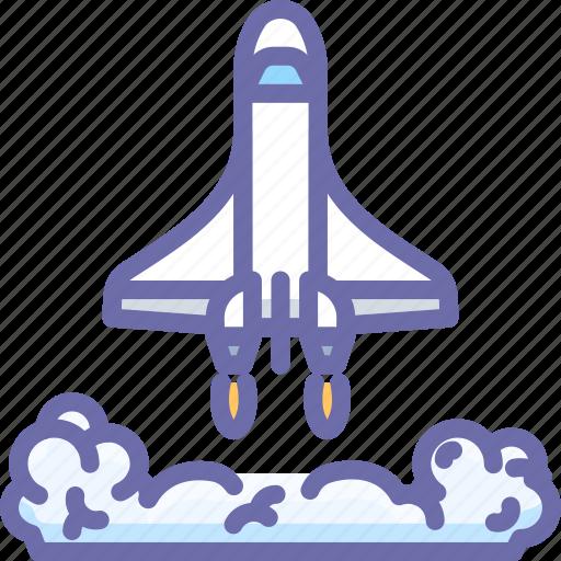 launch, shuttle, spaceship icon