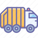 garbage, truck, recycle, trash