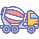 cement, construction, truck, vehicle icon