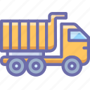 construction, truck, vehicle
