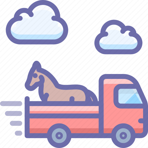 delivery, horse, shipping, truck icon